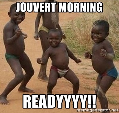 Dancing African Kid - Jouvert Morning readyyyy!!