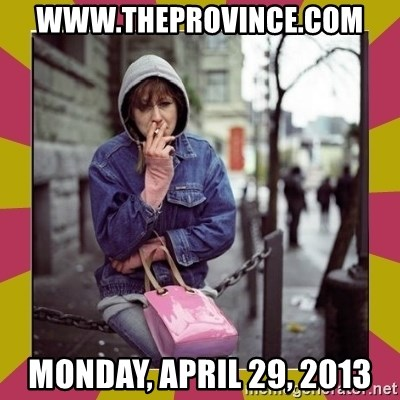 ZOE GREAVES DOWNTOWN EASTSIDE VANCOUVER - www.theprovince.com Monday, April 29, 2013