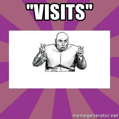 """'dr. evil' air quote - """"Visits"""""""