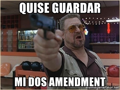 WalterGun - quise guardar mi dos amendment