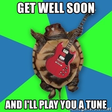 Aspiring Musician Turtle - GET WELL SOON  AND I'LL PLAY YOU A TUNE