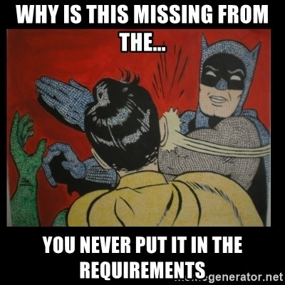 Batman Slappp - Why is this missing from the... you never put it in the requirements