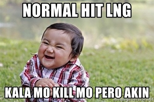 evil asian plotting baby - normal hit lng kala mo kill mo pero akin