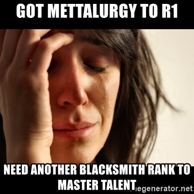 crying girl sad - Got mettalurgy to r1 need another blacksmith rank to master talent