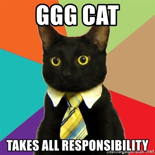 Business Cat - GGG Cat takes all responsibility