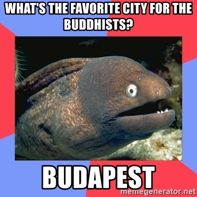 Bad Joke Eels - What's the favorite city for the buddhists? BUDAPEST