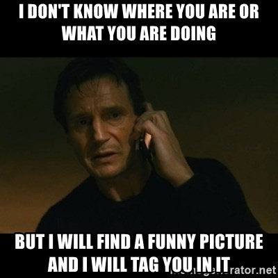 liam neeson taken - i don't know where you are or what you are doing but i will find a funny picture and i will tag you in it