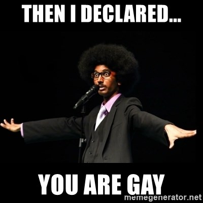 AFRO Knows - THEN I DECLARED... YOU ARE GAY