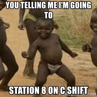 Little Black Kid - YoU telling me I'm going to Station 8 on C shift