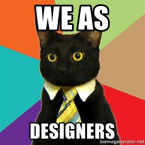 Business Cat - WE AS  DESIGNERS