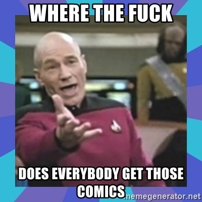what  the fuck is this shit? - Where the fuck does everybody get those comics