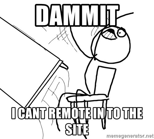 Desk Flip Rage Guy - DAMMIT  I CANT REMOTE IN TO THE SITE