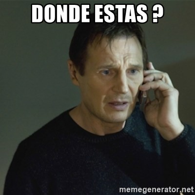 I don't know who you are... - DONDE ESTAS ?