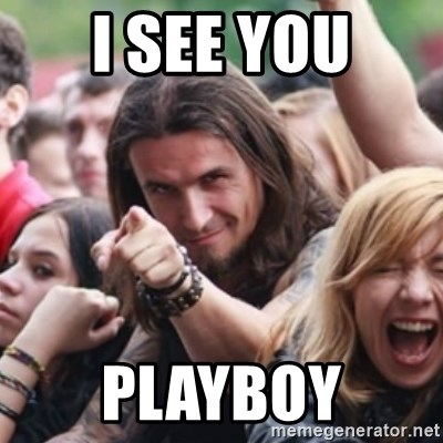 Ridiculously Photogenic Metalhead - I see you Playboy