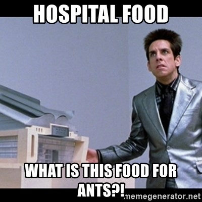 Zoolander for Ants - Hospital food What is this food for ants?!