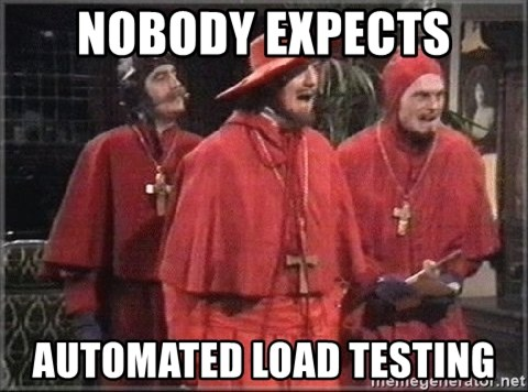 spanish inquisition - NOBODY EXPECTS AUTOMATED LOAD TESTING