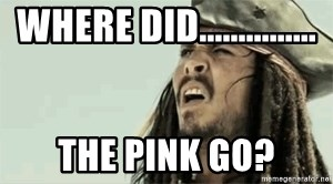 Jack Sparrow Reaction - Where did............... the pink go?