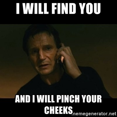 liam neeson taken - I WILL FIND YOU AND I WILL PINCH YOUR CHEEKS