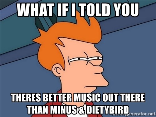 Futurama Fry - What if I told you Theres better music Out there than Minus & Dietybird