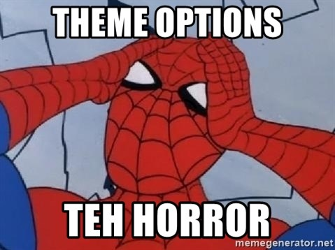 Scared Spider Dude - Theme Options Teh Horror