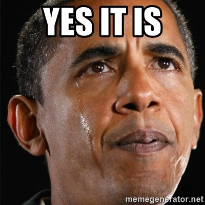Obama Crying - Yes it is