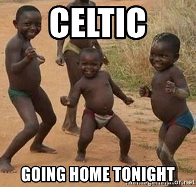 Dancing African Kid - celtic going home tonight