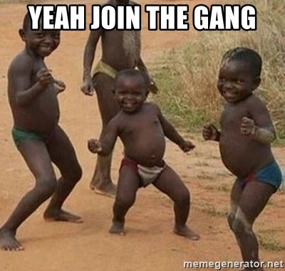Dancing African Kid - yeah join the gang