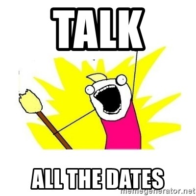 clean all the things blank template - talk  all the dates