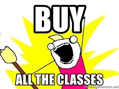 X ALL THE THINGS - Buy all the classes