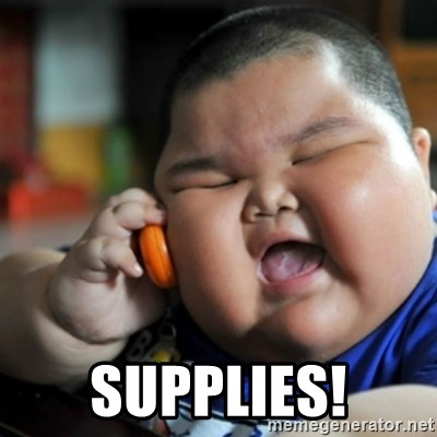 fat chinese kid -  supplies!