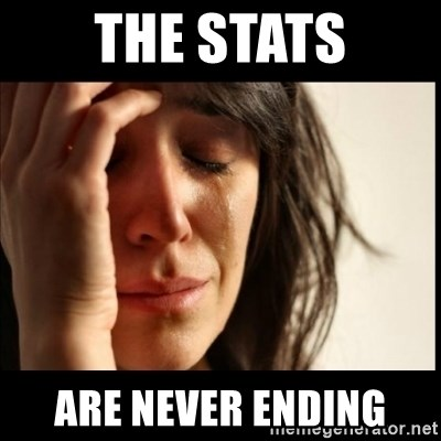 First World Problems - The stats Are never ending