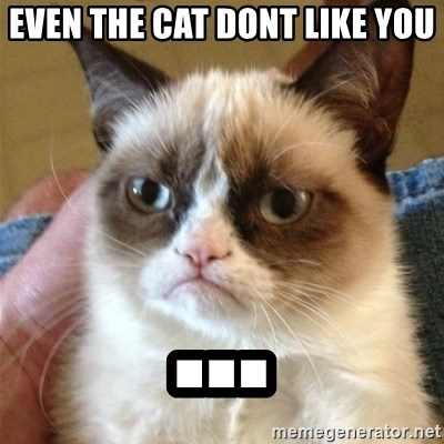 Grumpy Cat  - Even the cat dont like you ...