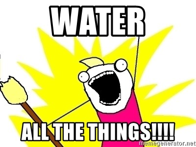 X ALL THE THINGS - Water All the things!!!!
