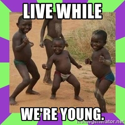 african kids dancing - LIVE WHILE  WE'RE YOUNG.