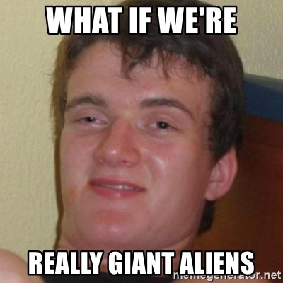 Stoner Guy - What if we're really giant aliens