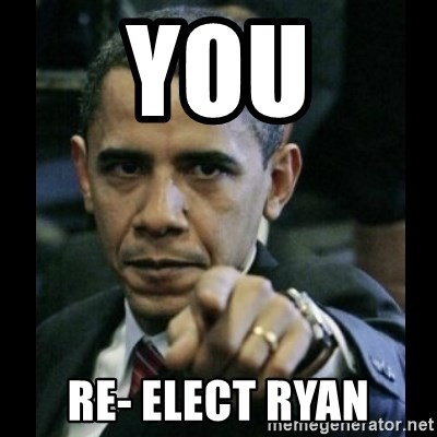 obama pointing - you re- elect ryan