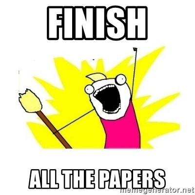 clean all the things blank template - finish all the papers