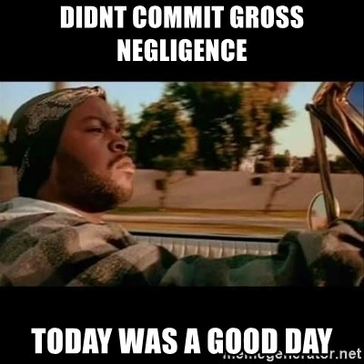 Ice Cube- Today was a Good day - didnt commit gross negligence today was a good day