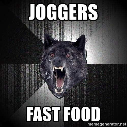 Insanity Wolf - joggers fast food