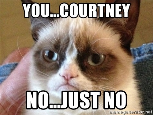 Angry Cat Meme - you...courtney no...just no