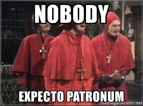 spanish inquisition - nobody expecto patronum