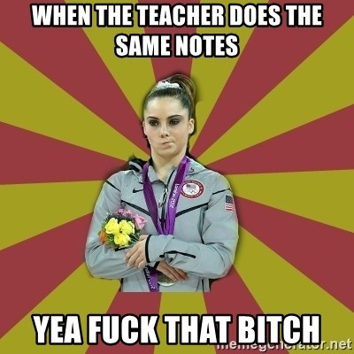 Not Impressed Makayla - WHEN THE TEACHER DOES THE SAME NOTES YEA FUCK THAT BITCH