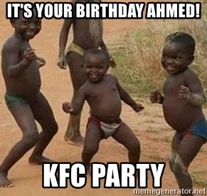 african children dancing - It's your birthday AHMED! KFC party