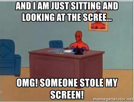 Spiderman Desk - and i am just sitting and looking at the screE... OMG! SOMEONE STOLE MY SCREEN!