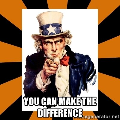 Uncle sam wants you! -  you can make the difference