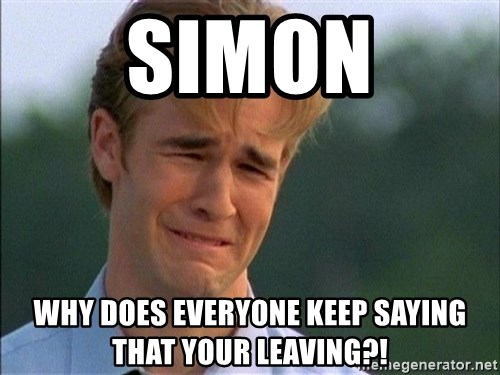 Dawson Crying - Simon Why does everyone keep saying that your leaving?!