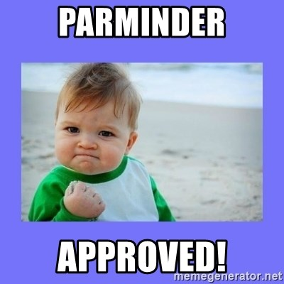 Baby fist - Parminder approved!