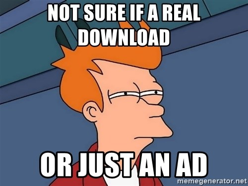 Futurama Fry - not sure if a real download  or just an ad