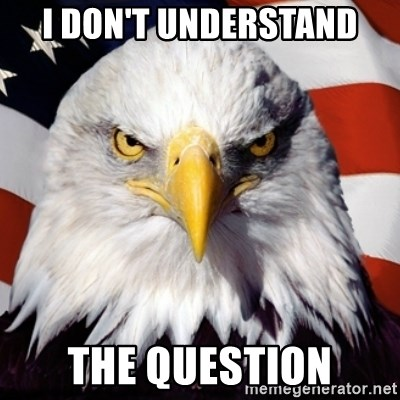 Freedom Eagle  - I Don't Understand the question