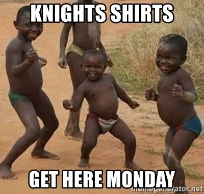 Dancing African Kid - KNIGHTS SHIRTS GET HERE MONDAY